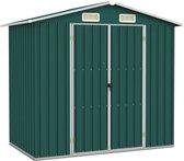 vidaXL Tuinschuur 205x129x183 cm gegalvaniseerd staal groen