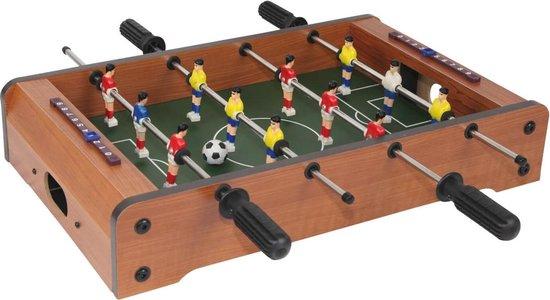 Afbeelding van het spel Mini voetbaltafel tafelmodel 35cm bruin