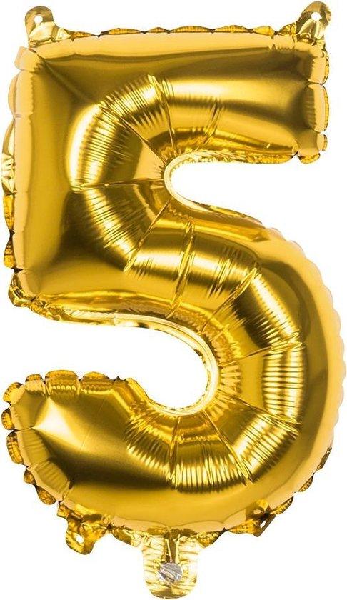Boland Cijferballon 5 Folie 66 Cm Goud