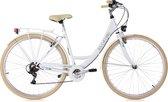 Ks Cycling Fiets Damesfiets Stadsfiets 6-versnellingen Toscane 28 inch wit - 48 cm