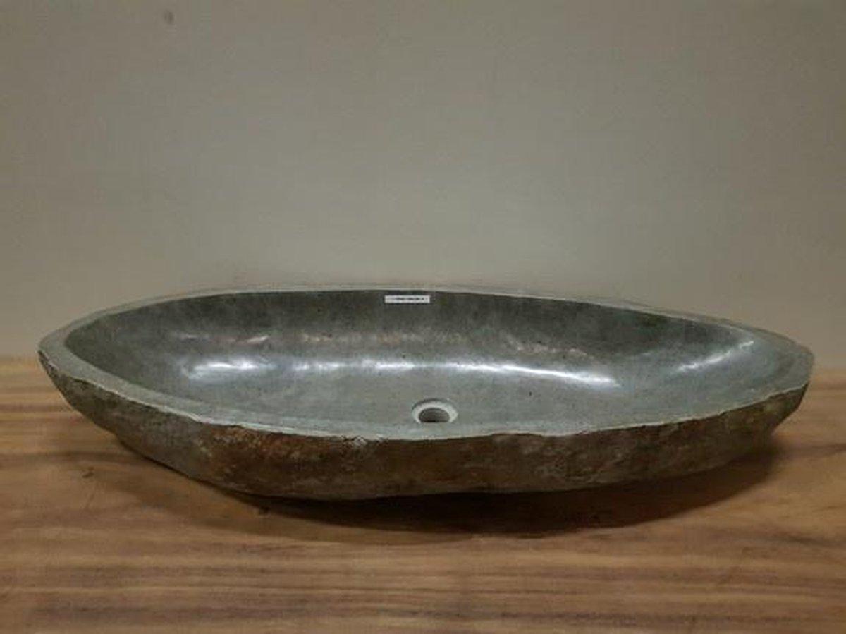 Wasbak natuursteen FL20492 - 104x39x16cm