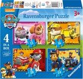 Ravensburger PAW Patrol: Puppies op pad - 12+16+20+24 stukjes - kinderpuzzel