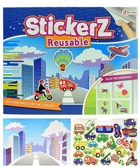 Afbeelding van het spel StickerZ Stickerboek Verschillende Voertuigen met Herbruikbare (Raam) Stickers