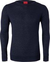 OLYMP Level 5, heren trui wol, blauw (Slim Fit) Gratis bezorgd