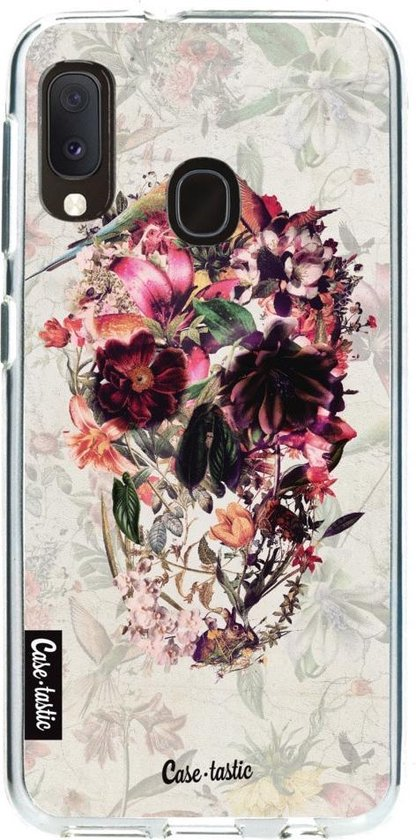 Samsung Galaxy A20e hoesje Flower Skull Casetastic Smartphone Hoesje softcover case