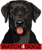 Labrador sticker (set van 2 stickers)