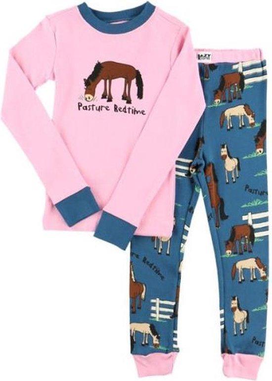 Kinderpyjama LazyOne Pasture Bedtime roze met bedrukte broek - 92