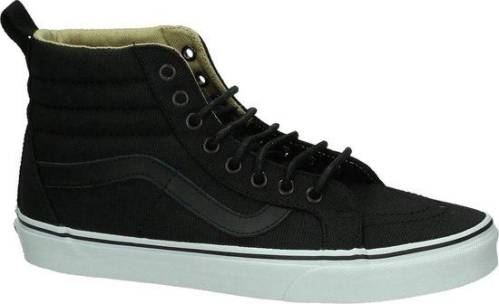 Vans - Sk8 Hi - Skate hoog - Unisex - Maat 46 - Zwart - JSP -Military  Black/True White