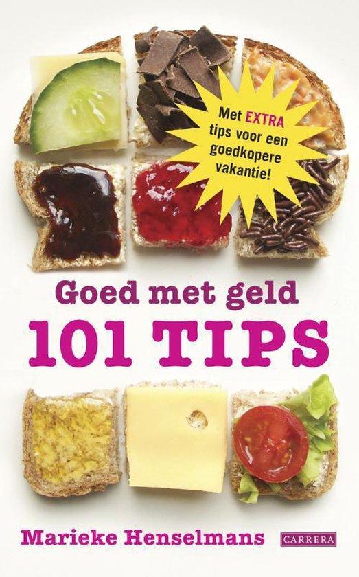 Cover van het boek '101 Tips om geld te besparen' van Marieke Henselmans