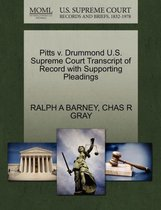 Pitts V. Drummond U.S. Supreme Court Transcript of Record with Supporting Pleadings