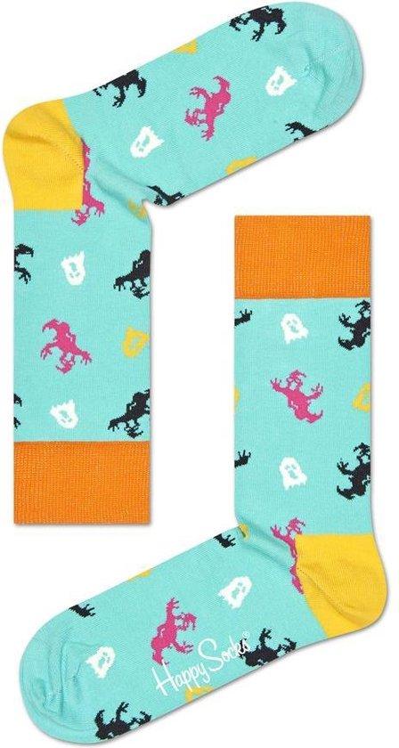 Happy Socks Halloween Giftbox Sokken - Roze/Blauw/Zwart - Maat 36-40