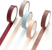 Set van 5 rollen Japanse Washi Tape Dusk | Masking Tape Decoratie