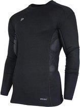 Donnay compressie shirt lange mouw - Baselayer - Heren - Maat M - Zwart