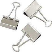 LPC Papierklem Fold back clips - zilver - 19 mm -100 stuks