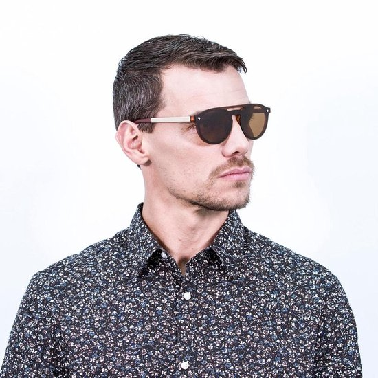 Ocean Sunglasses - SAN MARINO - Unisex Zonnebril zwart - Ocean Sunglasses