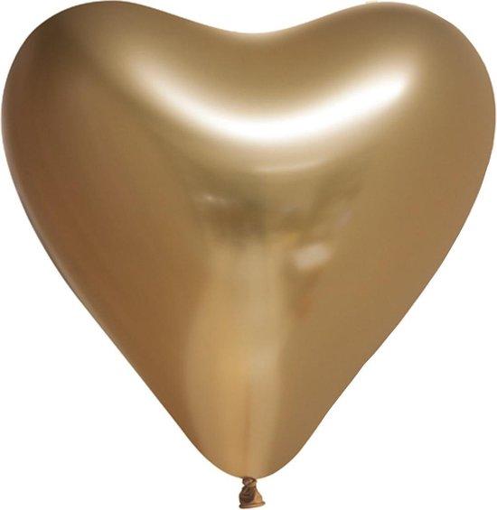 Ballonnen - Hart - Goud - Metallic - 30cm - 6st.