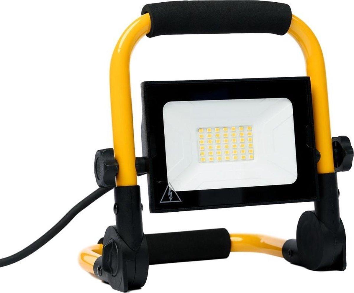 Specilights 30W LED Bouwlamp met grondstatief - Werklamp met 3 meter kabel met stekker - Waterdicht
