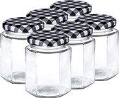 Set van 12x stuks glazen weckpotten/inmaakpotten met schroefdop 250 ml - Jampotjes met draaideksel - Voorraadpotten met draaidop
