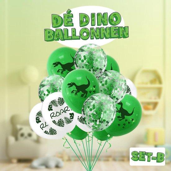 Dinosaurus ballonnen! Set B ! | Verschillende dino ballonnen voor op een kinderfeestje of kinderkamer! | Ook leuk als speelgoed | Op te blazen met een rietje of met helium |