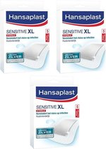 Hansaplast Sensitive Wondpleister 5x7,5cm XL 3x5 stuks