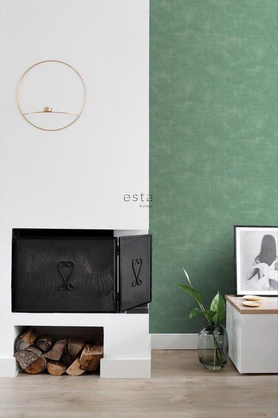 ESTAhome behangpapier betonlook groen - 139020 - 0.53 x 10.05 m - ESTAHome