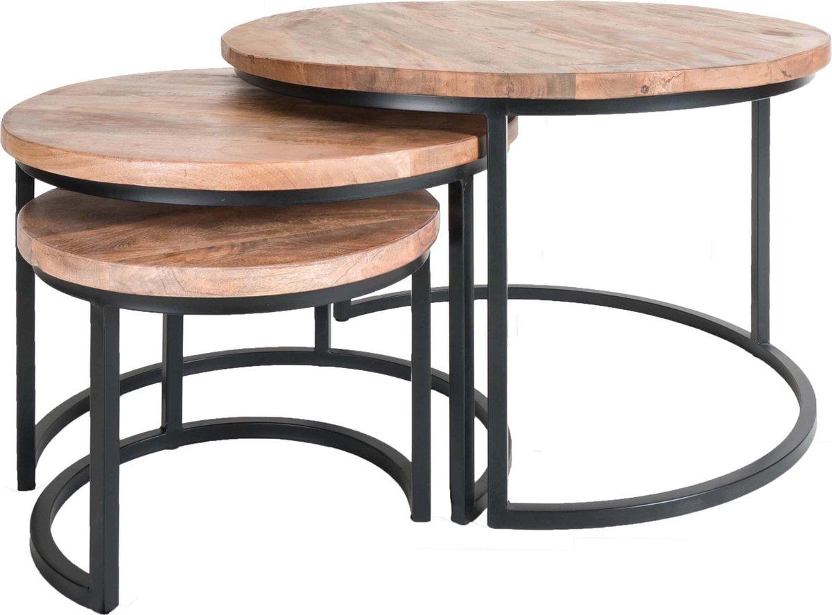 Salontafel Set van 3 - Industri le Salontafelset Erjan - Mangohout