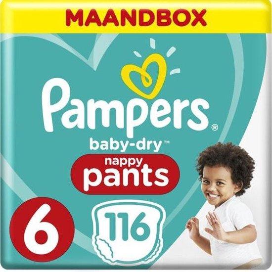 Pampers Baby-Dry Pants Luierbroekjes - Maat 6 (15+ kg) - 116 stuks - Maandbox - Pampers