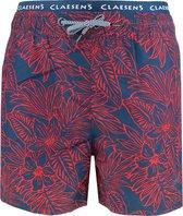 Claesen's zwemshort loose fit hawaii blauw & rood - 152/158