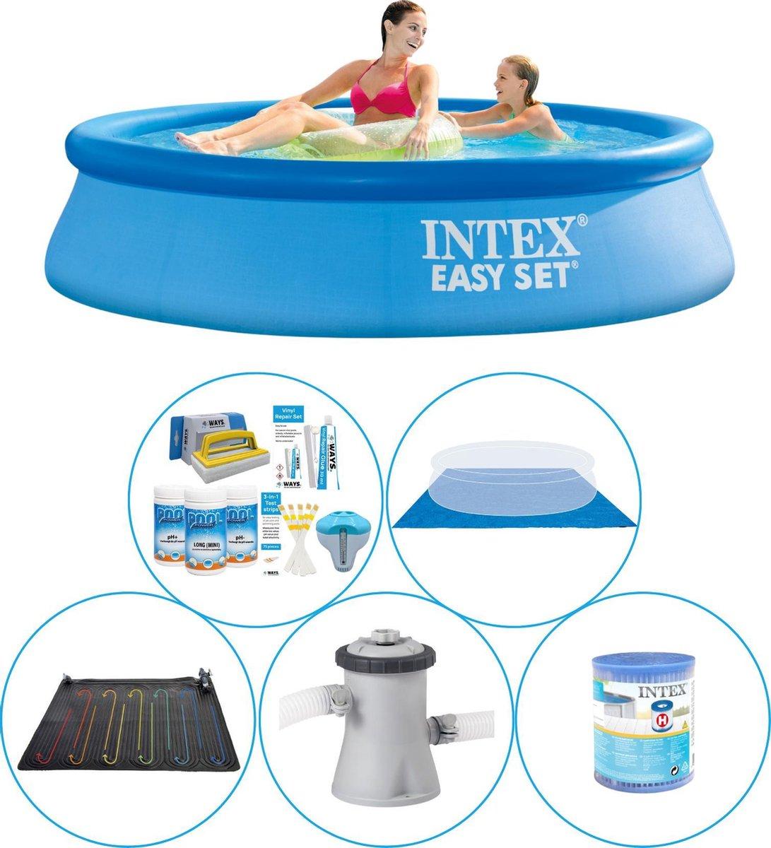 Intex Easy Set Rond 244x61 cm - 6-delig - Zwembad Plus Accessoires