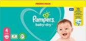 Pampers Baby-Dry Maat 4, 104 Luiers, Tot 12 Uur Bescherming, 9-14kg