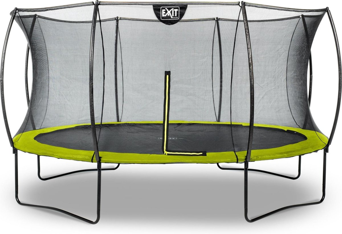 Trampoline EXIT Silhouette - ø427cm - groen