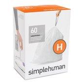 Simplehuman Pocket Liner (H) Afvalzak  - 30 l - 3x20 Stuks - Wit