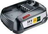 Bosch PBA 18 vervangende accu, 18 volt systeem, 2,5 Ah