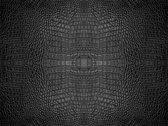 Vinyl vloervinyl | Croco chique, Reptielenhuid zwart | 90x120cm