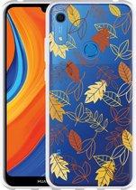 Huawei Y6s Hoesje Falling Leaves