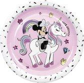 PROCOS - 8 kartonnen Minnie en de eenhoorn borden - Decoratie > Borden