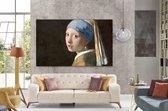 SALE - Meisje met de parel by Texposure - Johannes Vermeer - 180 (b) x 110 (h) cm - op textieldoek en zwart aluminium frame - elk ander formaat ook mogelijk!