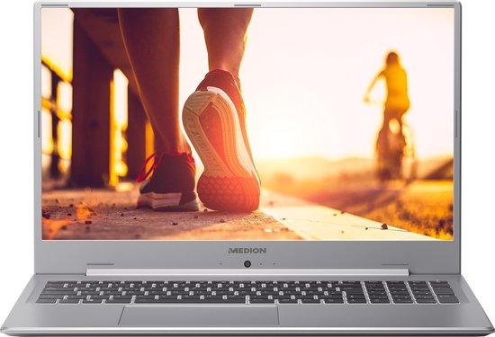 MEDION AKOYA P17605 Notebook Zilver 43,9 cm (17.3'') 1920 x 1080 Pixels Intel® 10de generatie Core™ i7 16 GB DDR4-SDRAM 1756 GB HDD+SSD NVIDIA® GeForce® MX250 Wi-Fi 6 (802.11ax) Windows 10 Home
