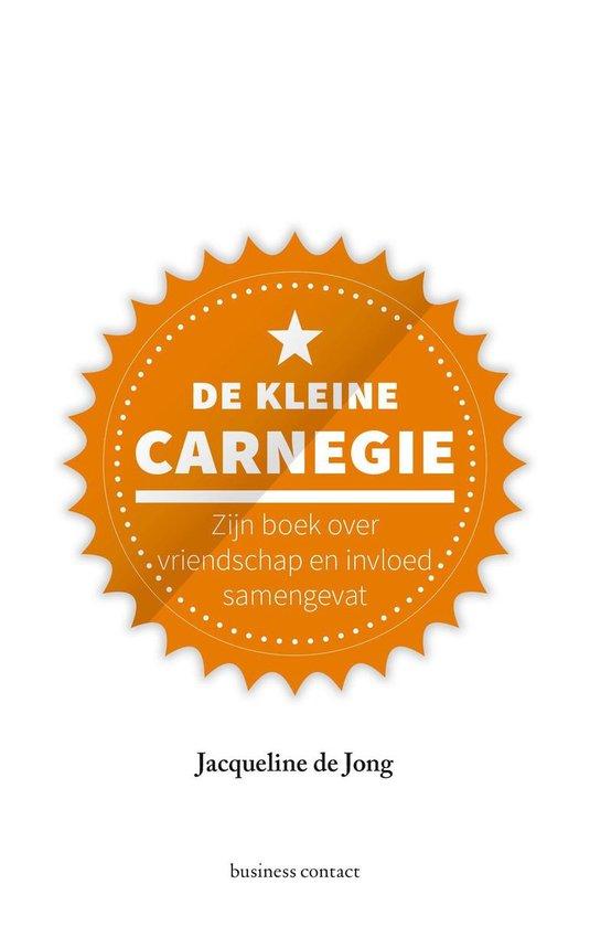 Boek cover De kleine Carnegie van Jacqueline de Jong (Onbekend)
