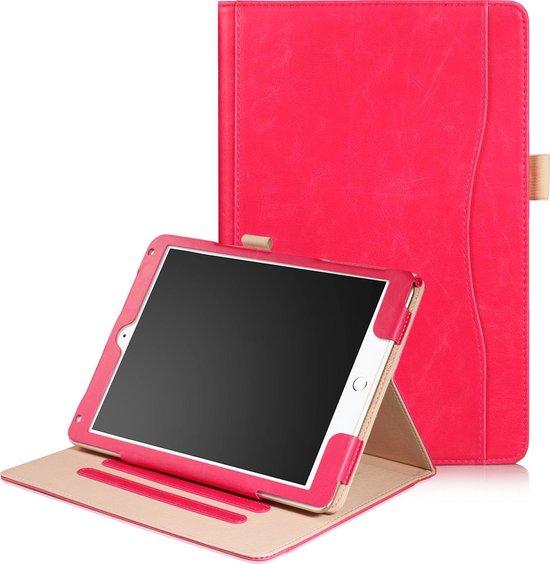 Dasaja iPad Air 1 / Air 2 / 9.7 (2017) / 9.7 (2018) leren case / hoes roze incl. standaard met 3 standen