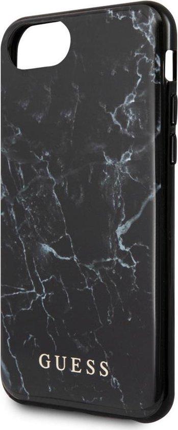 iPhone 8/7/6s/6 Backcase hoesje - Guess - Marmer look Zwart - TPU