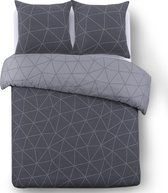 VISION - Hugo dark grey - dekbedovertrek 140x200cm - éénpersoons