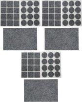 3x Antikras vilt / meubelvilt sets grijs - 25-delig - meubel viltjes