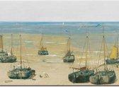 Placemat - Boten - Bekking & Blitz - Strand - Scheveningen - Den Haag - Kunst - Museaal - Museum - Hendrik Willem Mesdag - Panorama Mesdag