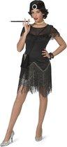 Jaren 20 Danseressen Kostuum | Jaren 20 Big Band Swing Zilver | Vrouw | Maat 32-34 | Carnaval kostuum | Verkleedkleding