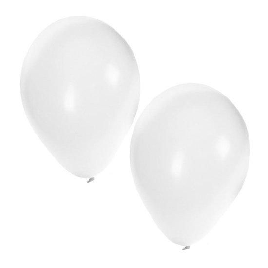 25x Witte ballonnen - 27 cm - ballon wit voor helium en lucht
