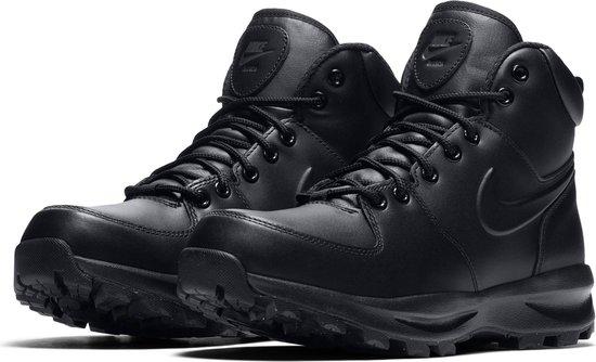 Nike Manoa Leather Heren Sneakers - Black/Black-Black - Maat 45,5