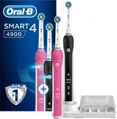 Oral-B Smart 4 4900 Zwart En Roze - Duopack 2 stuks - Elektrische Tandenborstel