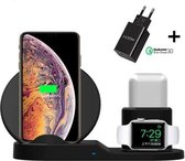 3-in-1 Draadloze Oplader-Draadloze Snellader set voor Iphone-Wireless Fast Charger-Wireless Charger Samsung-Oplaadstation-Draadloos Universeel Laden- Apple iPhone X / XS / XR / XS / 8 / Samsung Galaxy / S7 / S8 / S9 / Plus / Edge / Note
