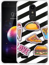 LG K30 Hoesje Love Fast Food